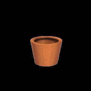 Adezz Producten Pflanzer Corten Steel Round Cado 80x60
