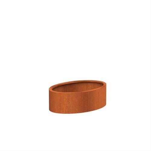 Adezz Producten Pflanzgefäß Corten Stahl Andere Ellipse 120x80x40