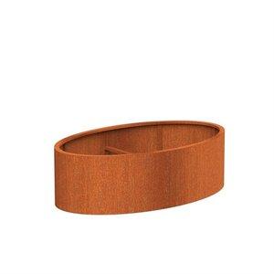 Adezz Producten Pflanzgefäß Corten Stahl Andere Ellipse 200x120x60