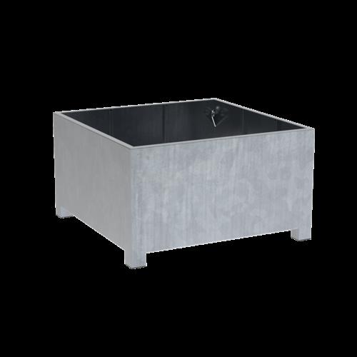 Adezz Producten Pflanzgefäß aus verzinktem Stahl quadratisch Vadim 140x140x80cm