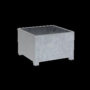 Adezz Producten Pflanzgefäß aus verzinktem Stahl quadratisch Vadim 120x120x80cm