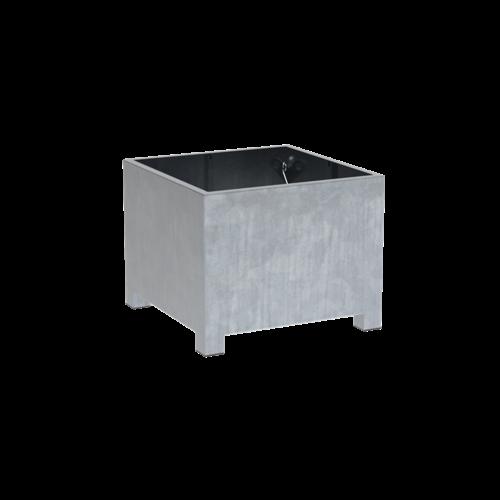 Adezz Producten Pflanzgefäß aus verzinktem Stahl quadratisch Vadim 100x100x80cm