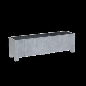 Adezz Producten Pflanzgefäß aus verzinktem Stahl Rechteck Vadim 200x50x60cm