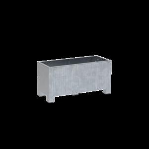 Adezz Producten Pflanzgefäß aus verzinktem Stahl Rechteck Vadim 120x50x60cm