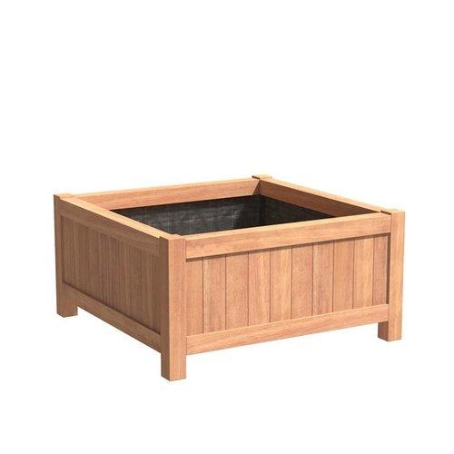 Adezz Producten Plantenbak Hardhout Vierkant Valencia 120x120x60cm