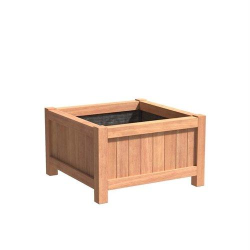 Adezz Producten Plantenbak Hardhout Vierkant Valencia 100x100x60cm