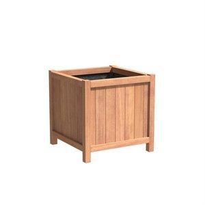 Adezz Producten Plantenbak Hardhout Vierkant Valencia 80x80x80cm