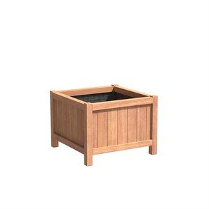 Adezz Producten Plantenbak Hardhout Vierkant Valencia 80x80x60cm