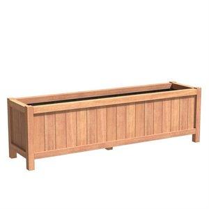 Adezz Producten Planter Hardwood Rectangle Valencia 200x50x60cm