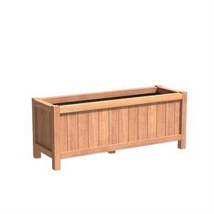 Adezz Producten Planter Hardwood Rectangle Valencia 150x50x60cm