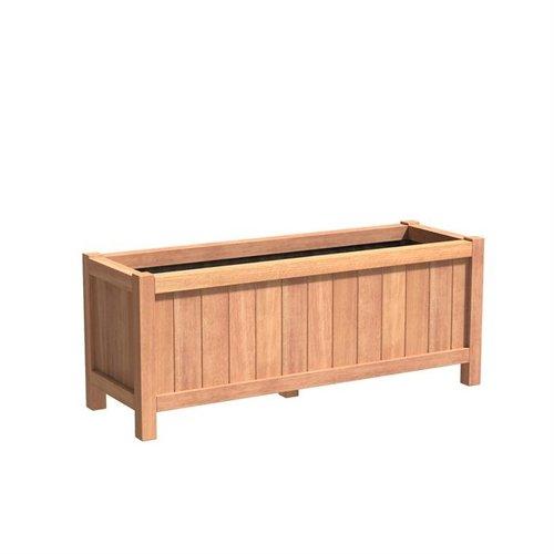 Adezz Producten Plantenbak Hardhout Rechthoek Valencia 150x50x60cm