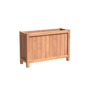 Adezz Producten Planter Hardwood Rectangle Valencia 120x40x80cm