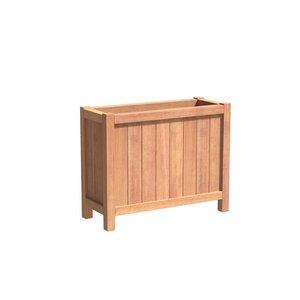 Adezz Producten Planter Hardwood Rectangle Valencia 100x40x80cm