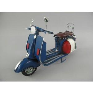 Miniatuur model scooter blauw