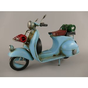 Miniature model scooter blue