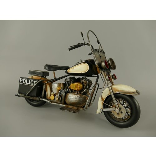 Miniature model Police motorcycle