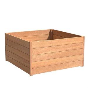 Adezz Producten Plantenbak Hardhout Vierkant Sevilla 140x140x72cm