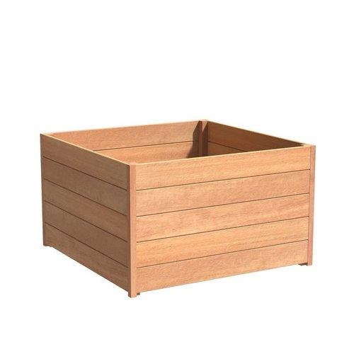 Adezz Producten Plantenbak Hardhout Vierkant Sevilla 120x120x72cm