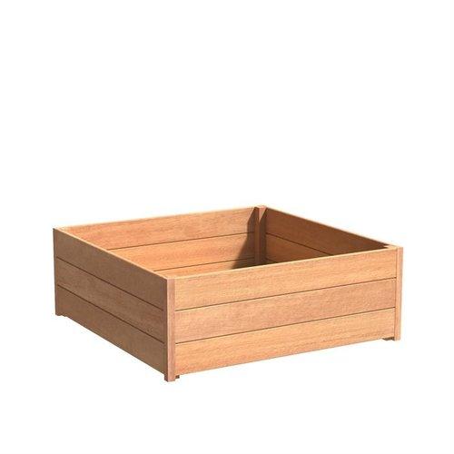 Adezz Producten Plantenbak Hardhout Vierkant Sevilla 120x120x44cm
