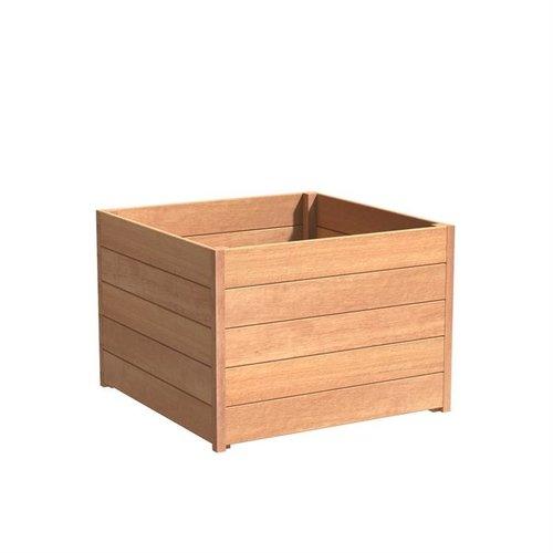 Adezz Producten Plantenbak Hardhout Vierkant Sevilla 100x100x72cm