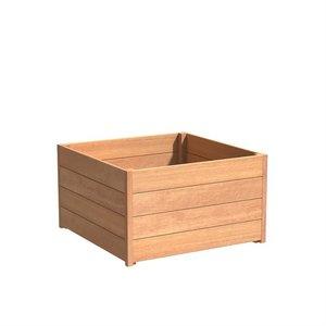 Adezz Producten Plantenbak Hardhout Vierkant Sevilla 100x100x58cm