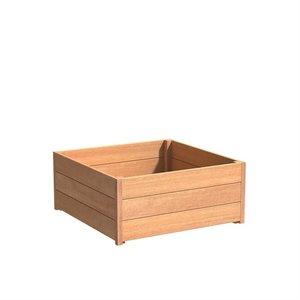 Adezz Producten Planter Hardwood Square Sevilla 100x100x44cm