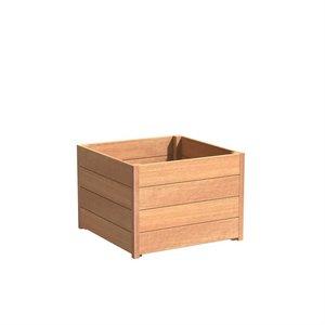 Adezz Producten Planter Hardwood Square Sevilla 80x80x580