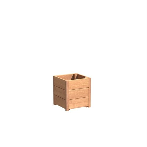 Adezz Producten Plantenbak Hardhout Vierkant Sevilla 40x40x44cm
