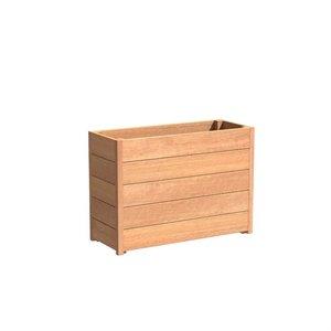 Adezz Producten Planter Hardwood Rectangle Sevilla 120x40x72cm