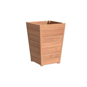 Adezz Producten Planter Hardwood Square Sevilla Tapered 70x70x990