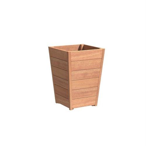 Adezz Producten Plantenbak Hardhout Vierkant Sevilla Tapered 60x60x85cm