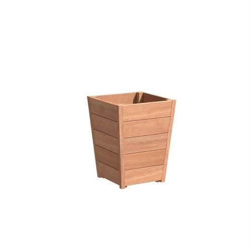 Adezz Producten Plantenbak Hardhout Vierkant Sevilla Tapered 55x55x72cm