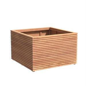 Adezz Producten Planter Hardwood Square Malaga Rhombus 120x120x75cm