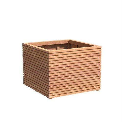 Adezz Producten Plantenbak Hardhout Vierkant Malaga Rhombus 100x100x75cm