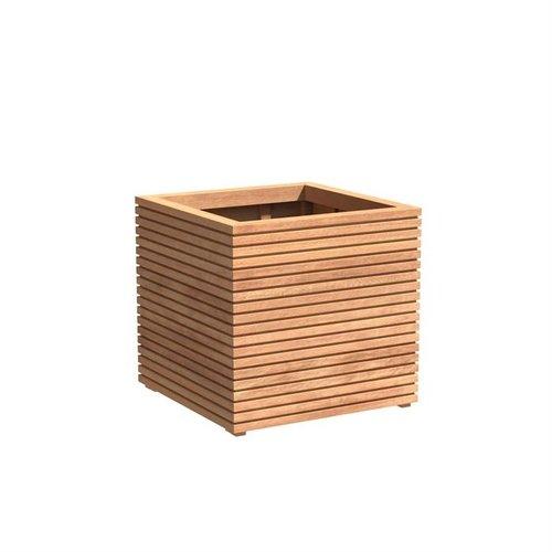 Adezz Producten Plantenbak Hardhout Vierkant Malaga Rhombus 80x80x75cm