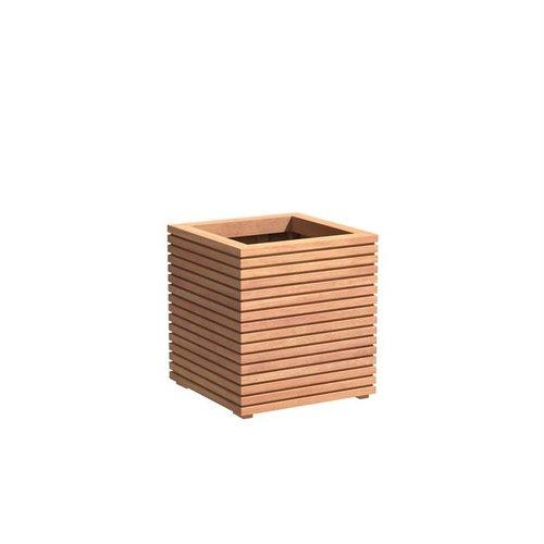 Adezz Producten Planter Hardwood Square Sevilla Rhombus 60x60x610