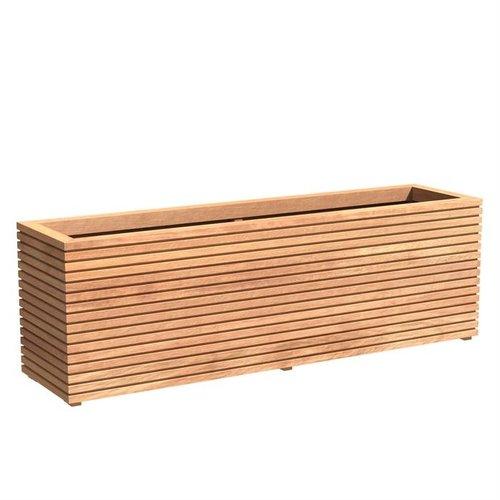 Adezz Producten Plantenbak Hardhout Rechthoek Malaga Rhombus 200x50x61cm