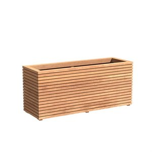 Adezz Producten Planter Hardwood Rectangle Malaga Rhombus 150x50x61cm