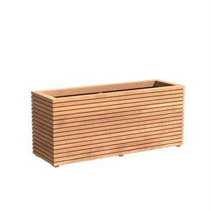 Adezz Producten Planter Hardwood Rectangle Sevilla Rhombus 150x50x61