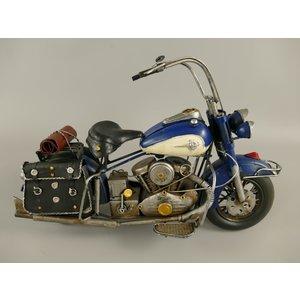 Miniatuur model Motor Blauw/Wit