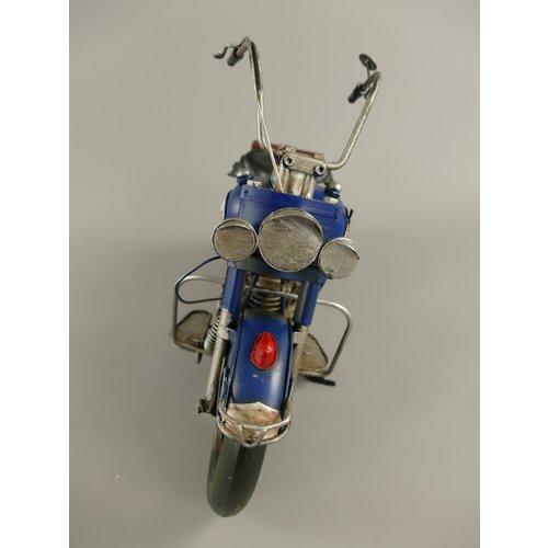 Miniature model Motor Blue / White