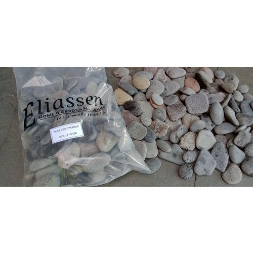 Ornamental boulders flat gray 5-8 cm.