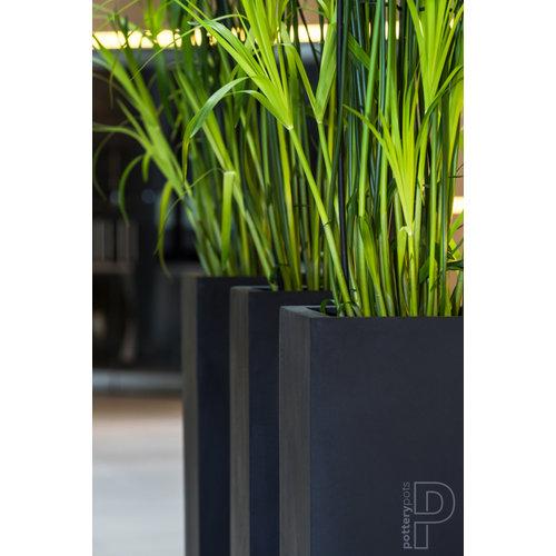 Column Yang matt black 35x35x100cm