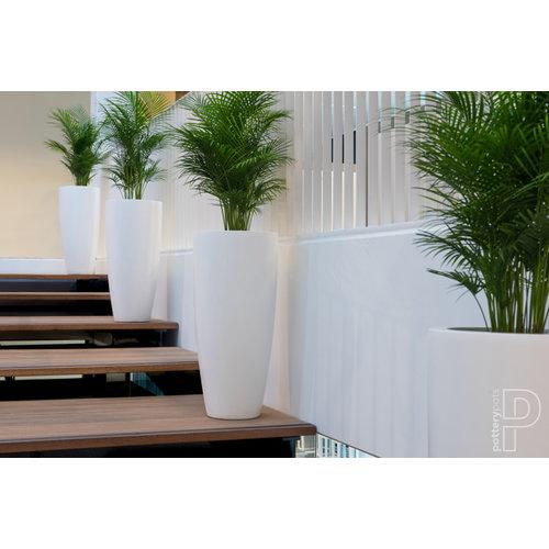 Vase XL matt white 100cm
