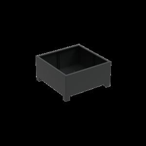 Adezz Producten Pflanzgefäß Aluminium Square Florida mit Beinen 120x120x60cm