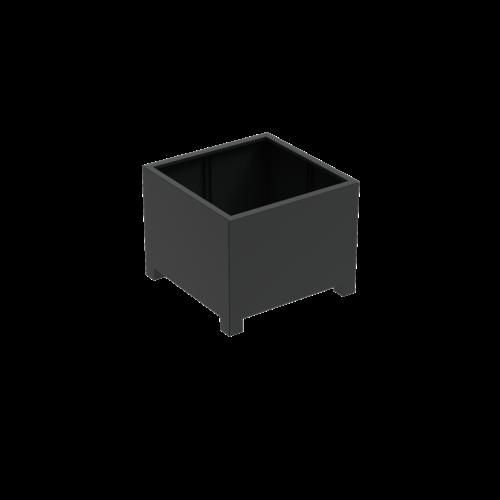 Adezz Producten Plantenbak Aluminium Vierkant Florida met poten 100x100x80cm