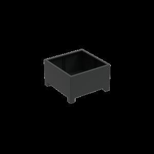 Adezz Producten Pflanzgefäß Aluminium Square Florida mit Beinen 100x100x60cm