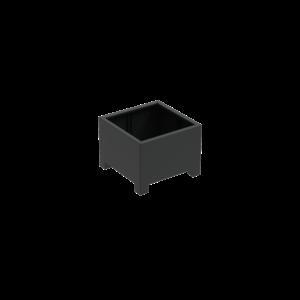 Adezz Producten Pflanzgefäß Aluminium Square Florida mit Beinen 80x80x60cm