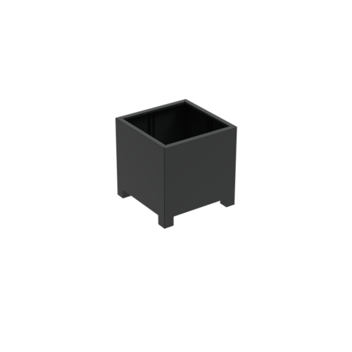 Adezz Producten Plantenbak Aluminium Vierkant Florida met poten 80x80x80cm