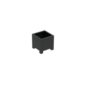 Adezz Producten Pflanzgefäß Aluminium Square Florida mit Beinen 60x60x60cm